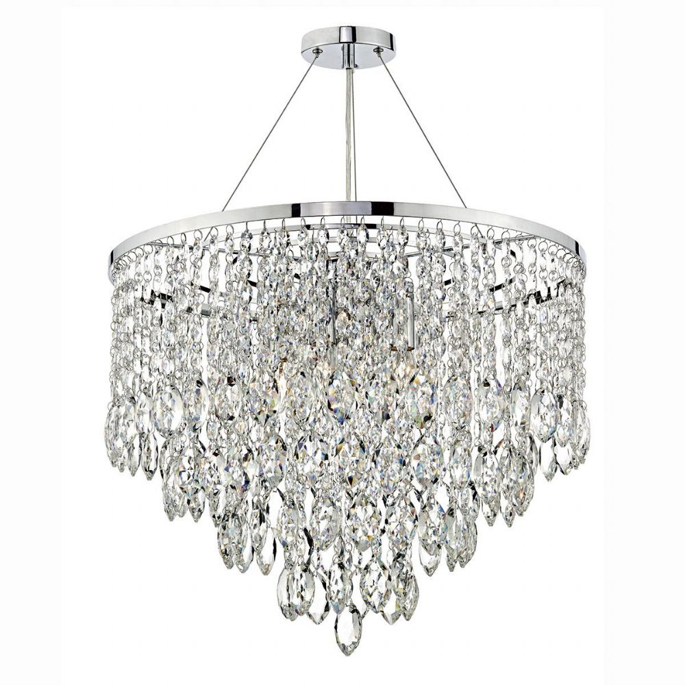 Pescara 5 Light Round Pendant Decorative Crystal (Class 2 Double Insulated) BXPES0550-17